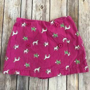 Talbots Kids Pink Poodle Dog Skirt Skort